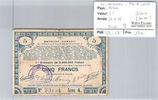 BON PAS DE CALAIS - 5 francs 23/4/15 - 2 300 000 F Série 4 n°33194