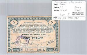Good Pas De Calais - 5 Francs 23/4/15 - 2 300 000 F Series 4 N°33194