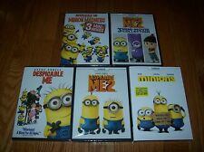 Brand New Sealed. Despicable Me set of all 5 on DVD. 1, 2 Minions + Mini movies