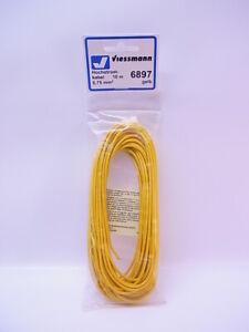 Lot 65896 Viessmann 6897 Hochstrom-Kabel Stranded Wire 10m 0,75mm ² Yellow New