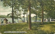 Canton OH~Houseboat on Landing @ Meyers Lake~Water Slide~Posts on Tree~1909 pc