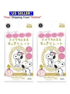 JAPAN Kose Refresh Facial Sheet Snoopy Face Wipes Blotting Cleanser 30 sheet -US