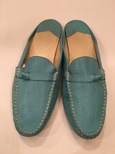 Talbots's Turquoise Blue Embossed Leather Shoes, 7 1/2 M