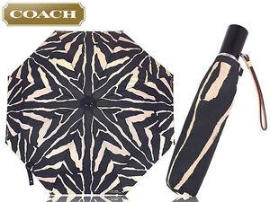 NEW Coach Zebra Print Umbrella F63326 NEW WITH TAG