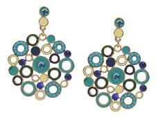 Ohrringe gold türkis blau elfenbein Ohrstecker by Ella Jonte new arrival earring