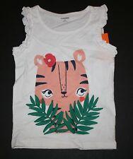 New Gymboree Sunny Safari White Tiger Palm Tree Flower Tank Top Tee Size 5T NWT