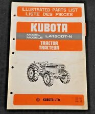 GENUINE KUBOTA 4150 L4150-DT-N TRACTOR PARTS CATALOG MANUAL VERY GOOD SHAPE