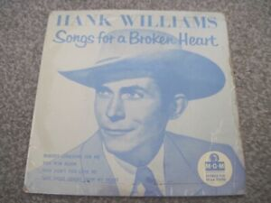 HANK WILLIAMS Songs For A Broken Heart  EP  1958 MGM    VG+