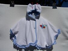 Tropical Escape Baby Infant White Terrycloth Coverup Bug Head Size 24 Months