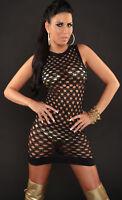 LADIES' Clubbing Party Go Go Net Mesh Mini dress Black Clubwear UK 8-10 EU 36-38