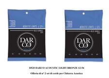 DARCO D520 LIGHT BRONZE 12-54  OFFERTA di 2 SET MUTA CORDE per CHITARRA ACUSTICA