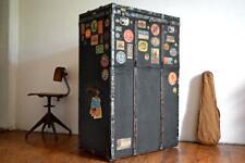 Koffer weit gereist Alt Truhe Antik Maritim Möbel Schrank Überseekoffer Loft