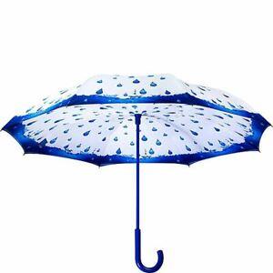 Galleria - Rainy Season Stick  Reverse Close Umbrella - 23051RC