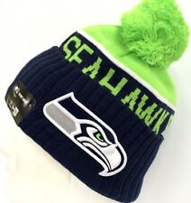 2015-2016 Seattle Seahawks NEW ERA NFL SIDELINE SPORT KNIT Cap Beanie Pom