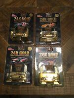 1998 Racing Champions 24K Gold 1/64 Nascar Lot Of 4 Nice
