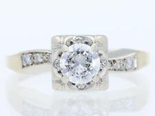 Valor: 2.250,- EUR vintage anillo 0,60 quilates brillante diamantes 585 Gold 14 quilate