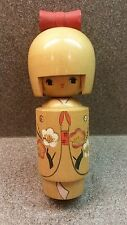 VINTAGE TRADITIONAL JAPANESE WOODEN KOKESHI DOLL HAND CRAFTED HAND PAINTED