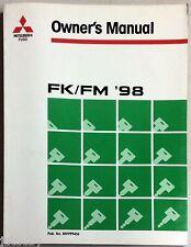 MITSUBISHI FUSO TRUCK OWNER'S MANUAL FK/FK '98 PUB.NO. MH999436