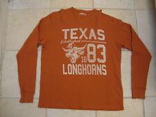 264299c942f1a NCAA Texas Longhorns University Orange Thermal Long Sleeve T Shirt Sz S