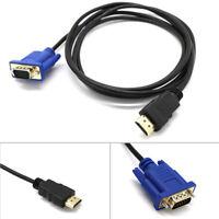 Portable VGA To HDMI 15 Pin Video Cable Converter Adapter For Desktop Computer