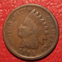 1895 Indian Head Cent Penny , Circulated , US Coin