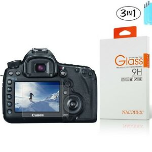 [3x] Tempered Glass Screen Protector For Canon EOS 5D Mark III MK IV 5DS 5DSR