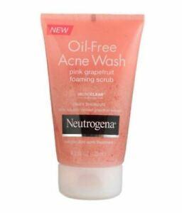 3 Neutrogena Oil-Free Acne Wash Pink Grapefruit Foaming Scrub MICRO CLEAR 4.2 oz