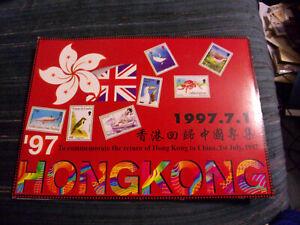 WORLDWIDE HONG KONG TO CHINA SOUV SHEET COLLECTION FOLIO, MNH