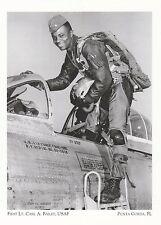 """+PC-Postcard-""""1st Lt. Carl A. Bailey, USAF"""" /Korean War/ *Punta Gorda, FL (A322)"""