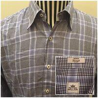 Peter Millar Men's Medium Button Down Long Sleeve Dress Shirt Multicolor Plaid