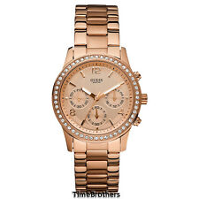 NEW GUESS WATCH for Women * Rose Gold Tone * Chronograph * U0122L3/W0122L3