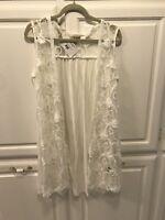 White Lace Vest Size Small