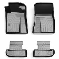 Front & Rear All Weather Floor Mats Liners Set Black For 2015-2020 Ford Mustang