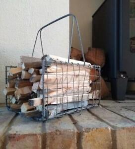 Industrial Wire Mesh Kindling Log Holder Magazine Newspaper Basket Storage Rack