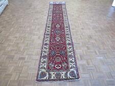2'9 X 19'10 Runner Hand Knotted Tribal Red Super Kazak Oriental Rug G5659