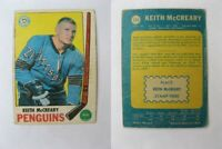 1969-70 OPC O-Pee-Chee #114 McCreary Keith crease   penguins