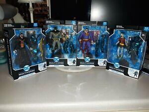 McFarlane DC Multiverse The Merciless BAF Complete Set Wave Dark Knights Metal