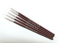Major Brushes Fine Detail Paint Brush Set of 5 Size 00 for Model Making, Hobby