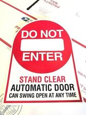 Automatic Door / Do Not Enter Glass Door Decal / Sticker / Labels Entry Safety