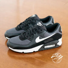 Nike Air Max 90 Black Leather Sneakers for Men for sale | eBay