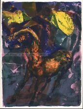 WALTER SPITZER - LE CHAOS ET LA NUIT * RARE ORIGINAL LITHOGRAPH 1963 horse