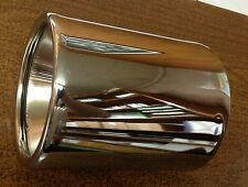 """5/"""" x 7/"""" s//o 2 1//2/"""" Double Wall Inside Roll Lot Of 2 Chrome Exhaust Tips"""