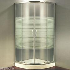 Box doccia 90x90 semicircolare con serigrafia scorrevole tondo in cristallo 6 mm
