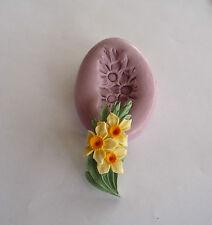 Daffodil SPRAY fiore stampo in silicone, Sugarcraft, CUP CAKE decorazioni per carta