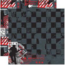 Reminisce ROCK STAR 12x12 Dbl-Sided Scrapbooking (2pcs) Paper CONCERT
