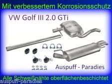 Abgasanlage Auspuff  VW Golf III 2.0 GTi  Limo. (1H1) & Cabrio (1E7) 115PS + Kit