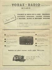 "VORAX-RADIO MILANO  PUBBLICITA'  RICEVITORE ""MIGNONETTE""- ANNO 1950"