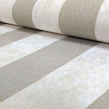 CARATI Glitter Stripe Carta da Parati Color Panna / oro soft-P+S 13346-10 metallica