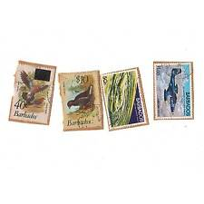 4 Vintage postage stamps loose world/foreign BARBARDOS