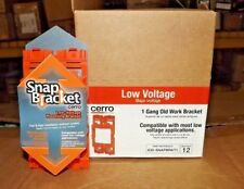 Lot of 12 Cerro one-Gang Old Work Box, Low Voltage - Suitable for resale